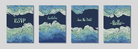 Sea Waves Four Frames Set 2