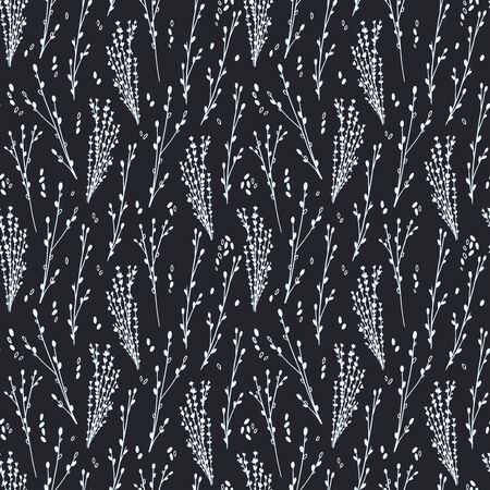 Floral Seamless Pattern with Herbs-03