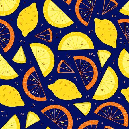 Hand Drawn Juicy Lemon Illustration Ilustracja
