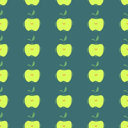 Hand Drawn Simple Seamless Pattern with Apples