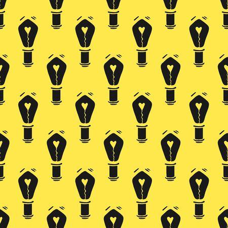 Doodle Lamp Idea Seamless Pattern-02