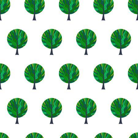 Tree Hand Drawn Patterns Uneven-12