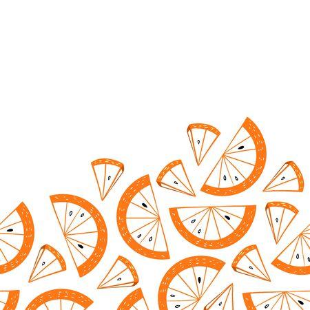 Orange Lemon Slices Seamless Pattern-04