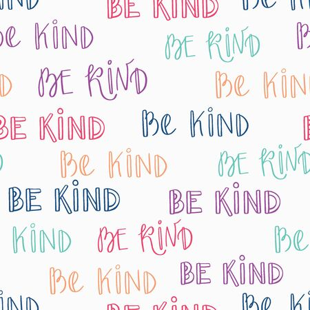 Be Kind Typography Seamless Pattern-02