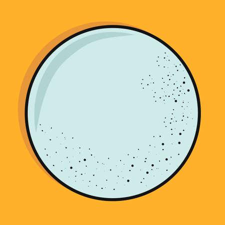 Empty plate. Vector illustration Ilustração