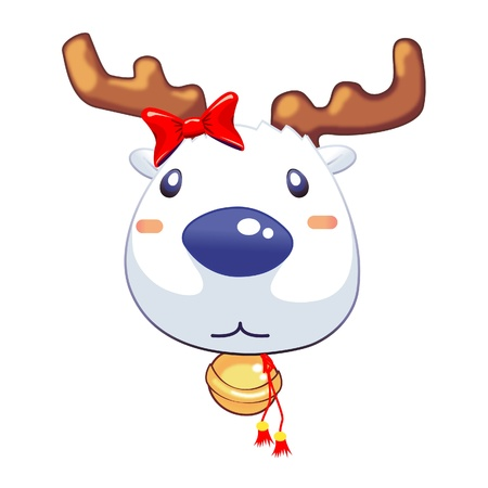 Reindeer Head Vector Cartoon Animal Stock Vector - 19019710