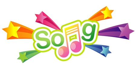 Song Note Music Star 3d background Vector