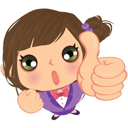 Great business girl Vector