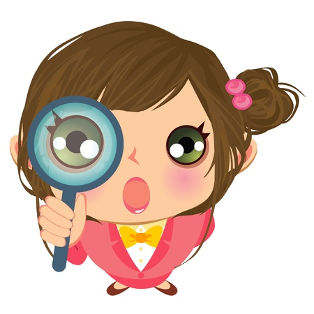 business girl searching Vector
