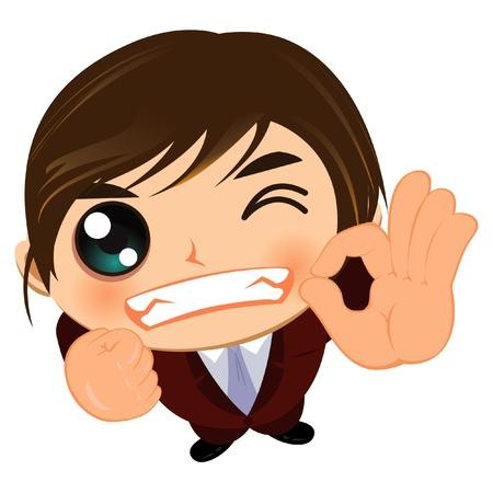 job satisfaction: ok business wink man okay