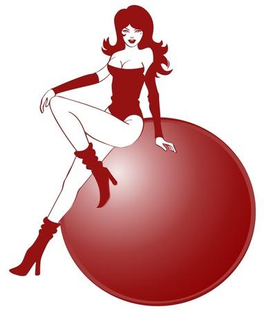 Sexy Girl Cartoon Illustration