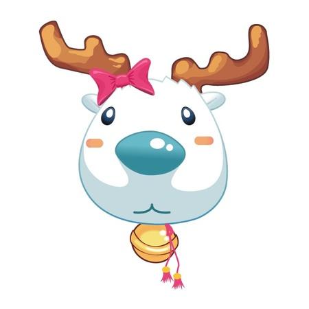 Rena Menina principal animal dos desenhos animados