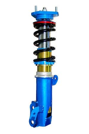 decelerator: blue shock absorber retouch retouched Stock Photo