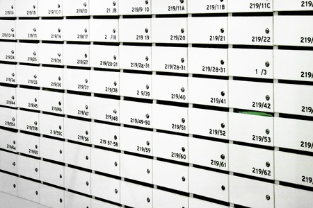 caixas de correio de apartamentos Banco de Imagens