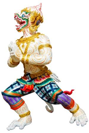hanuman: Hanuman statue retouched on white background