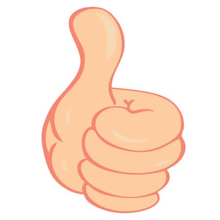 thumbs up business: Vector mano que muestra los pulgares para arriba Vectores