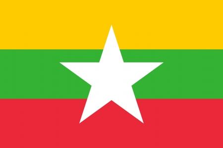 Uni�o de Mianmar ou Birm�nia bandeira