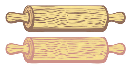 rolling pin: rolling pin vector Illustration