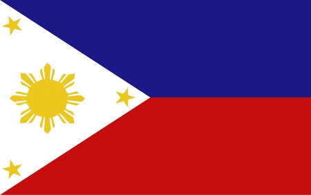 asean: Republic of The Philippines Flag vector