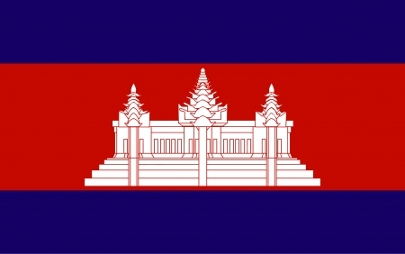 Reino da bandeira do vetor Combodia Ilustra��o