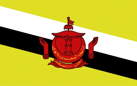 brunei: Brunei Darussalam Flag vector Illustration