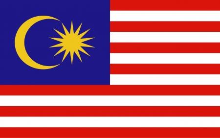 bandera: Bandera de Malasia vector