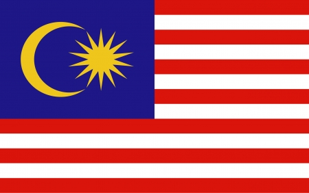 the flag: Malaysia Flag vector Illustration