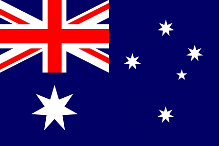 australian flag: original and simple Australia flag isolated vector in official colors Illustration