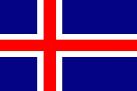 original and simple Iceland flag isolated vector in official colors Vector