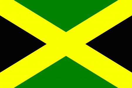jamaica: original and simple Jamaica flag in official colors