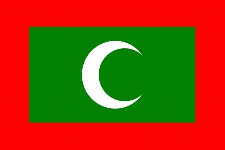 original and simple Maldives flag isolated vector in official colors Vector