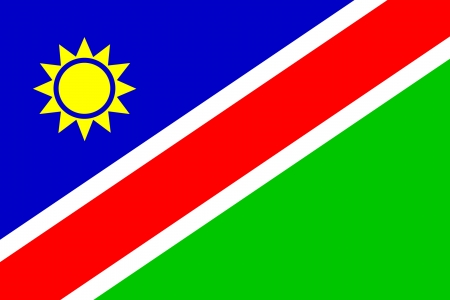 namibia: original and simple Namibia flag isolated vector in official colors Illustration