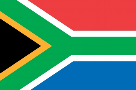 highness: original and simple South Africa flag isolated vector in official colors