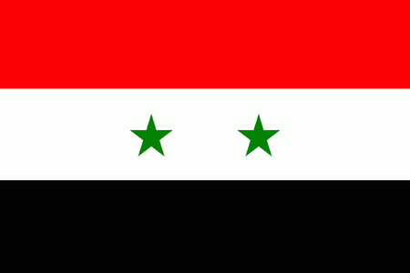 original and simple syria flag isolated vector in official colors Illustration