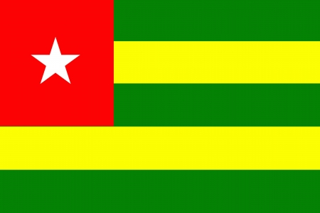 original and simple togo flag isolated vector in official colors Vector