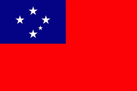 original and simple Western Samoa flag isolated vector in official colors Vector