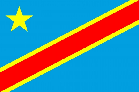 republic of the congo: original and simple Democratic Republic of Congo new flag isolated vector in official colors Illustration