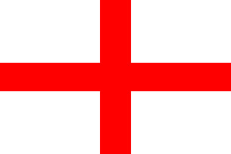 the flag: original and simple Republic of The England flag isolated vector in official colors Illustration