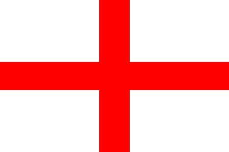 originele en eenvoudige Republiek De vlag van Engeland geïsoleerde vector in officiële kleuren