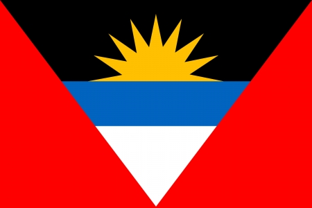 original and simple Republic of The Antigue and Barbuda flag isolated vector in official colors Vector