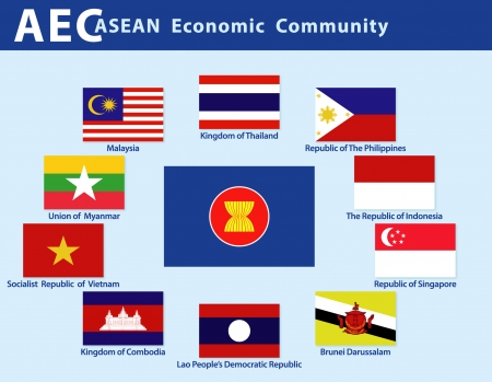 Asean Economic Community  AEC  Vector