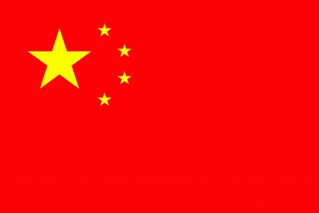 original and simple China flag isolated vector in official colors Иллюстрация
