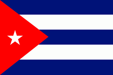 original and simple Cuba flag isolated vector in official colors and Proportion Correctly Vector