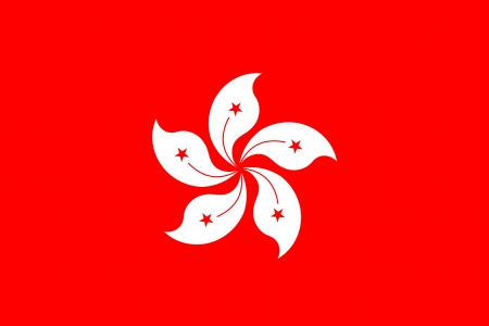 original and simple Hong Kong flag isolated vector in official colors and Proportion Correctly Illustration