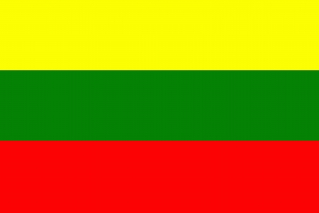 original and simple Lithuania flag isolated vector in official colors and Proportion Correctly Vector