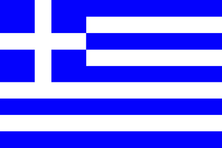 original and simple Greece flag isolated vector in official colors and Proportion Correctly Vector