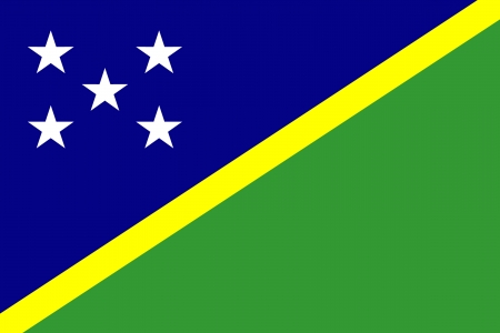 original and simple Solomon Islands flag isolated vector in official colors and Proportion Correctly Vector
