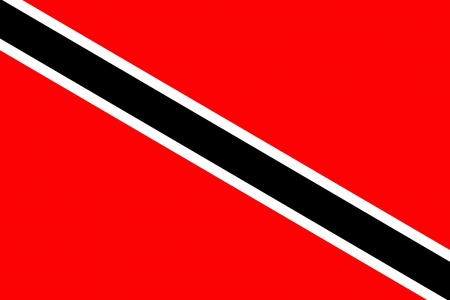 original and simple Trinidad and Tobago flag isolated vector in official colors and Proportion Correctly Vector