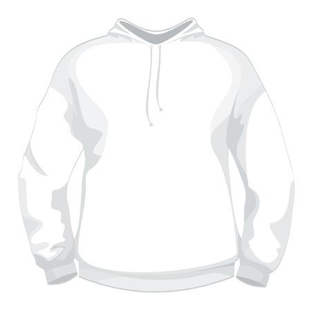 unprinted: Blanco de la chaqueta o su�ter de dise�o de la plantilla