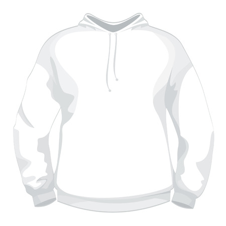 activewear: White jacket or sweater design template Illustration